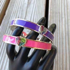 Pretty Vera Bradley Pink & Purple Bangles Like New